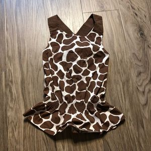 Gymboree giraffe print sleeveless top Dress